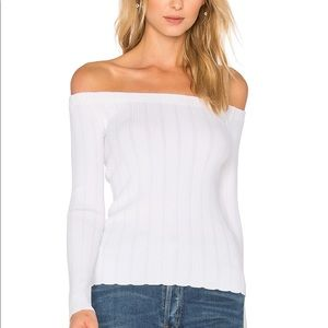 Rag & Bone Kari Knit White Pullover Large NWT
